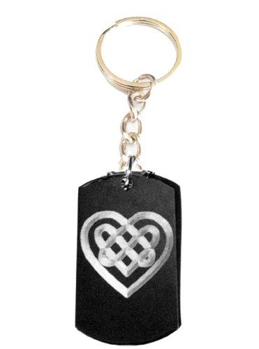 Celtic Irish Knot Heart Tattoo Logo Symbols - Metal Ring Key Chain Keychain ()