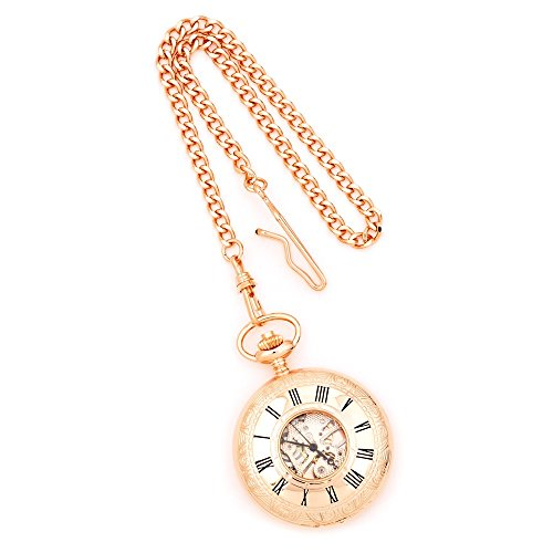 Charles-Hubert, Paris Rose Gold-Plated Mechanical Pocket Watch ()