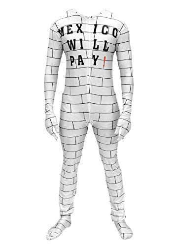 RAD KELL Mexico Will Pay Zip Up Costume Jumpsuit