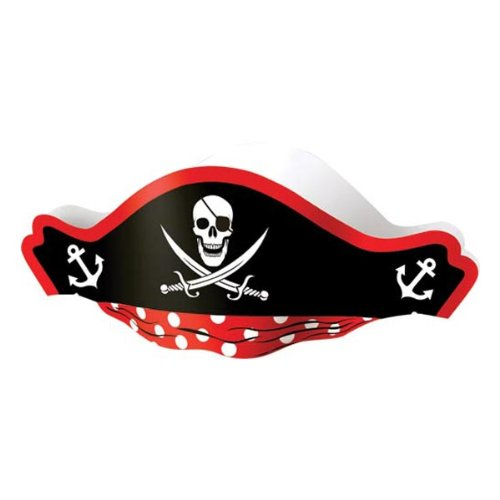 [US Toy Pirate Captain Cardboard Party Hats Costume (1 Dozen)] (Pirate Theme Party Costumes)