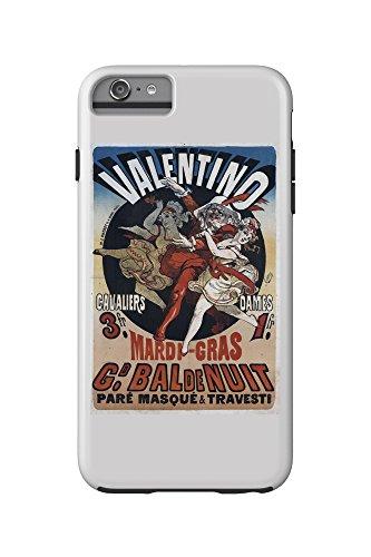 Valentino - Mardi Gras Vintage Poster (artist: Cheret) France c. 1869 (iPhone 6 Plus Cell Phone Case Cell Phone Case, Tough)