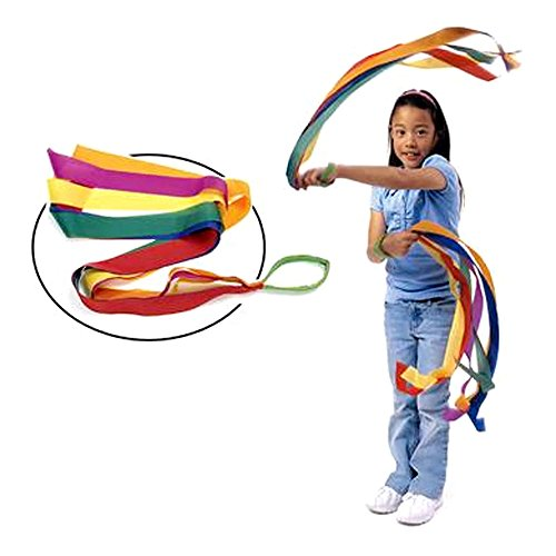 TOPTIK 12 PCS Rhythm Ribbon Dance Rainbow Ribbon Set for Kids