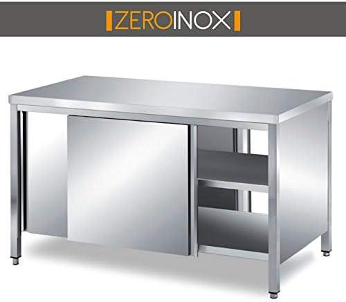 ZeroInox Mesa armadiato Puertas correderas en Dos Lados Profundidad 70 cm, Hotel: Amazon.es: Hogar