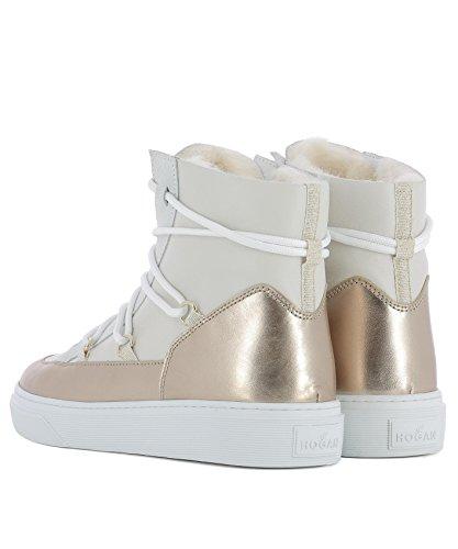 Beige Hi Hxw3420z960hq80l8v Sneakers Top Hogan Pelle Donna YPqffdw