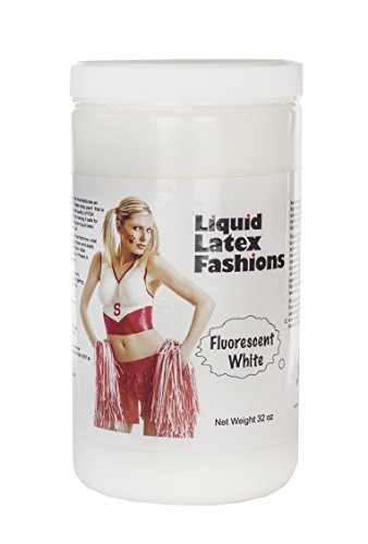 Ammonia Free Liquid Latex Body Paint - 32oz Fluorescent White by Liquid Latex Fashions