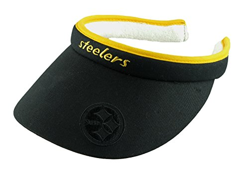 Cheer Visor (Pittsburgh Steelers NFL Women's Tension Visor (Black))