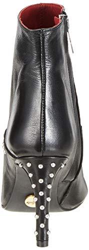 Mujer Smoky Botines 01 Nastro Grape Leather black Negro 00 Buffalo Para AdSYqS