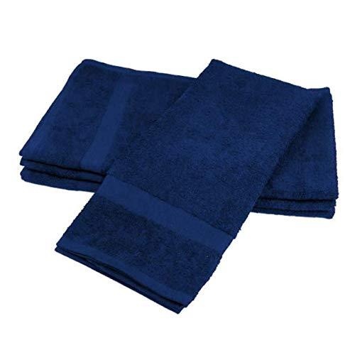 KILA New 16x27 6Pcs Navy Blue Salon Gym spa Towel Ringspun handtowels - RK114