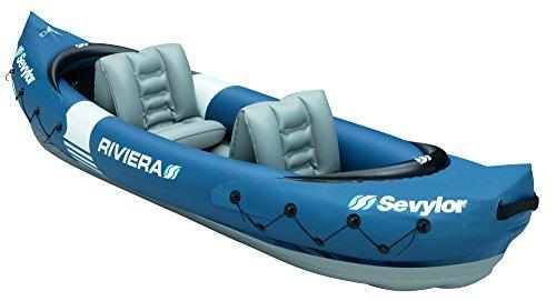 Sevylor Schlauchboot Kajak Riviera, blau/grau (61 x 40,6 x 21,6 cm)