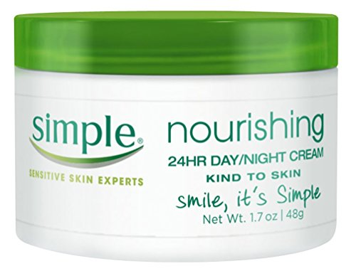 Simple Nourishing 24Hr Day Day/Night Cream 1.7 Ounce Jar(Box) (50ml) (2 Pack)