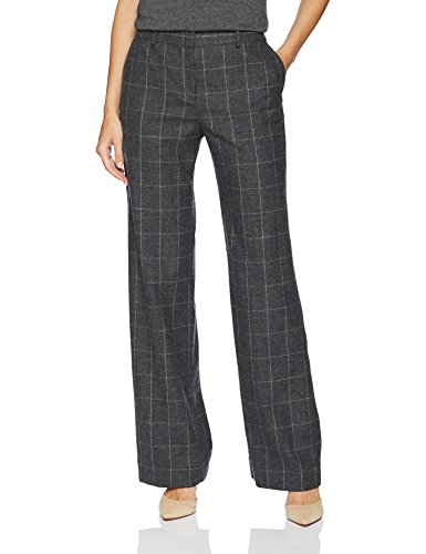 - Equipment Women's Scholastic Plaid Wool Twill Hagan Trouser, Charcoal Multi, 6