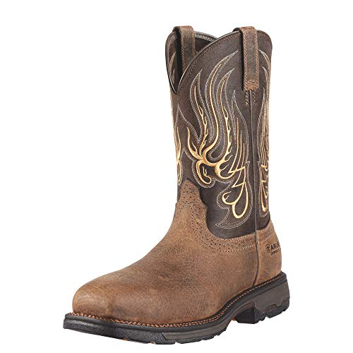 Ariat Men's Workhog Mesteno Wide Square Composite Toe Work Boot, Earth/Coffee, 9.5 M US