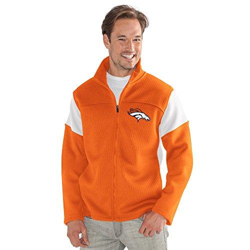 G-III Sports NFL Denver Broncos Adult Men Halftime Full Zip Jacket, Large, Orange from G-III Sports