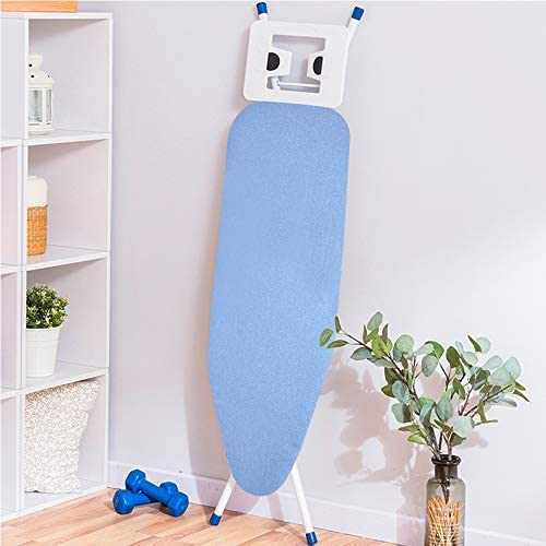 YORKING Ironing Board cotton ironing board cover Height Adjustable, Safety Iron, Safety Storage Lock, Non-Slip Adjustable Height, Rest Home Laundry Room or Dorm Use (Pure Blue)