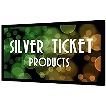 """STR-169150 Silver Ticket 4K Ultra HD Ready Cinema Format (6 Piece Fixed Frame) Projector Screen (16:9, 150"""", White Material)"""