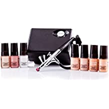 Luminess Air Basic Airbrush System with 7-Piece Silk 4-IN-1 Airbrush Foundation & Cosmetic Starter Kit,  Fair