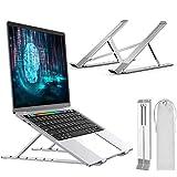 Soporte para Computadora portátil, MTQ Mesa Laptop para Computadora de Sobremesa, MacBook, iPad, Pro, Soporte Ajustable para Computadora Portátil con Ventilación, Altura Ergonómica para Portátiles y Tabletas
