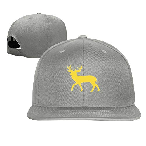 Golden Deer Silhouette Fashion Men and Women General Truck Drivers Hip-Hop Baseball Caps Gray
