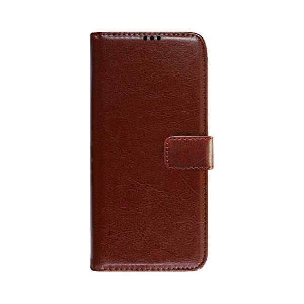 Amazon Brand - Solimo Flip Leather Mobile Cover (Soft & Flexible Back case) for Samsung Galaxy M12 (Brown) 2021 July Snug fit for Samsung Galaxy M12, with perfect cut-outs for volume buttons, audio and charging ports Compatible with Samsung Galaxy M12 Durable design combining smooth outer PU Leather finish with soft TPU inner case, Protects phone from scratches, falls, fingerprints and sweat