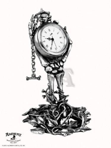 Carpe Diem Desk Clock - Goth by Alchemy Gothic