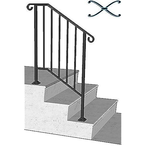 4 Step Handrail Kits : Outdoor stair railing amazon
