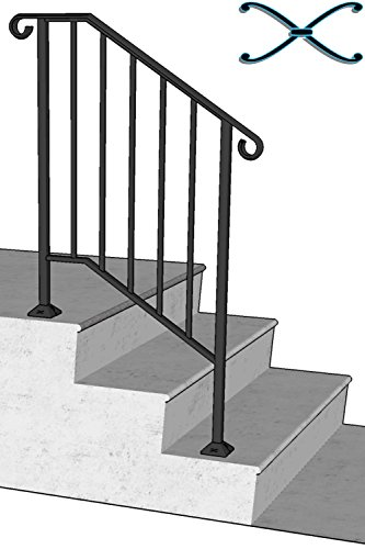 DIY Iron X Handrail Picket #2 Fits 2 or 3 Steps by Iron X Handrail