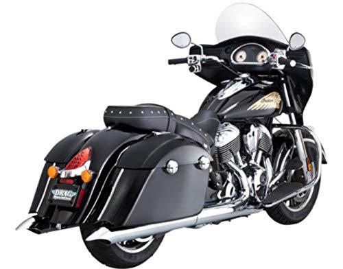 (Vance & Hines 15-16 Indian ROADMAST Classic Turn Down Slip-On Exhaust (Chrome / 4