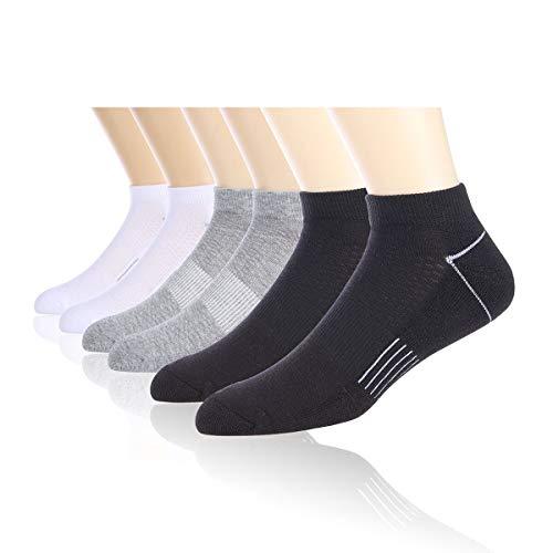 COOVAN Mens 6P Pack Athletic Low Cut Socks Men ...