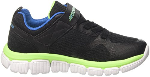 Skechers Skech Flex 2.0-Swift Pulse, Zapatillas Para Niños Negro (Black/blue/lime)