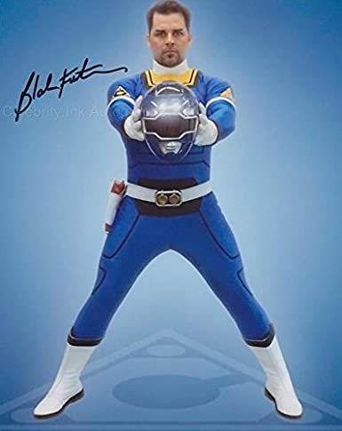 BLAKE FOSTER as Justin the Blue Turbo Ranger - Power Rangers Turbo GENUINE AUTOGRAPH