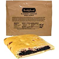 Bridgford Blueberry Turnover - MRE Survival Food Storage Ready To Eat Meals - 3 Pack
