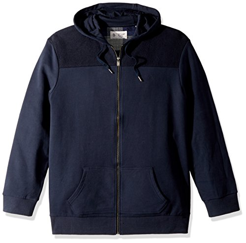 Original Penguin Men's Big Drop Shoulder Hoodie, Dark Sapphire, 2 XL-Extra Large/Tall by Original Penguin