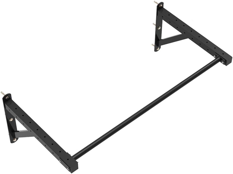 鉄棒 オプティプルアップバーリハビリテーションラック子供用ジムバーエクササイズバーヨガポール耐重量270kg (Color : 黒, Size : 119*63*45cm) 黒 119*63*45cm