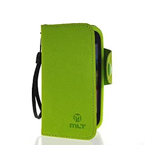 MOONCASE Slim Flip Wallet Card Pouch Leather Shell Case Cover For Samsung Galaxy Ace Plus S7500 Green
