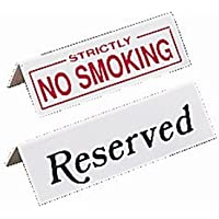 Nextday Catering l988cuadro sign-reserved, plástico (Pack de 10)