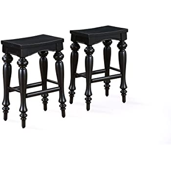 Amazon Com Powell Pennfield Distressed Black Kitchen