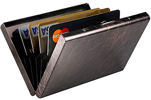 Metal Business Card Case Holder - RFID Credit Card Holder Protector Stainless Steel Credit Card Wallet Slim RFID Metal Credit Card Case for Women or Men