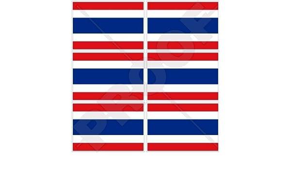 Thai SIAM Siamese 40mm Mobile Cell Phone Vinyl Mini Stickers 1,6 Decals x6 THAILAND Flag