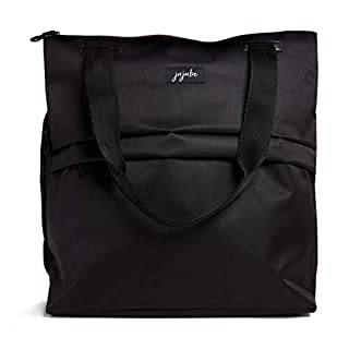 JuJuBe All Purpose Shoulder Tote Bag | Black | Durable Waterproof Travel Bag with Exteriors & Interior Pockets, Lightweight Machine Washable Shoulder Bag, Gym Bag, Beach Bag or Diaper Bag