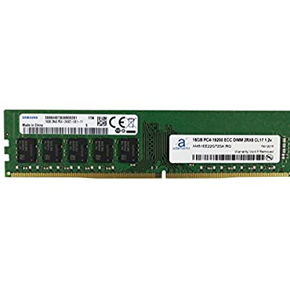 Image of Adamanta 16GB (1x16GB) Server Memory Upgrade Compatible with Dell Poweredge, HP Proliant & Lenovo Thinkserver DDR4 2400MHz PC4-19200 ECC Unbuffered 2Rx8 CL17 1.2v DRAM RAM Memory