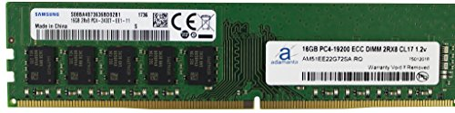 Samsung Original 16GB (1x16GB) Server Memory Upgrade for Dell Poweredge, HP Proliant & Lenovo Thinkserver DDR4 2400MHz PC4-19200 ECC Unbuffered 2Rx8 CL17 1.2v DRAM RAM (Poweredge 2400 Server)
