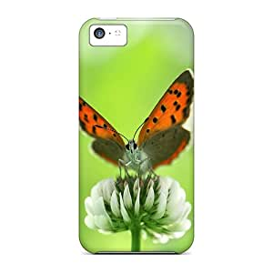 Slim Fit Protector Shock Absorbent Bumper Butterfly On The Flowers Cases For Iphone 5c