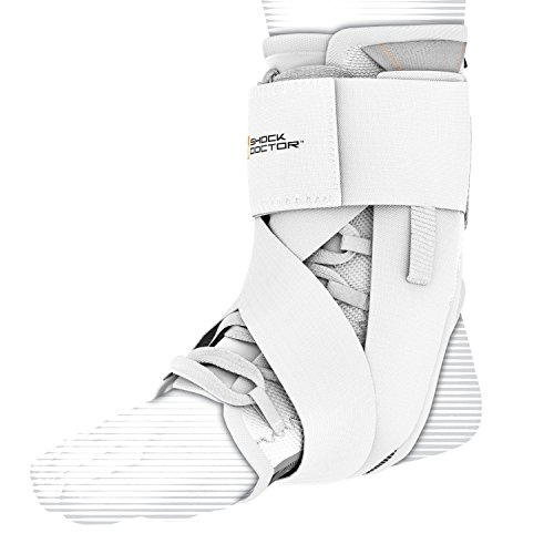 Shock Doctor Adult Ultra Wrap Lace Ankle Support, X-Small, White