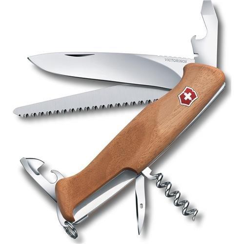"Victorinox Swiss Army Delemont Collection 130mm/5.11"" RangerWood 55 Pocket Knife Multi-Tool, Walnut"