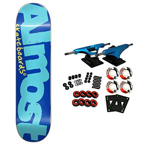 7.5 Resin Deck - Almost Skateboard Complete Color Logo Blue 7.5
