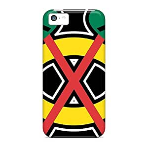 Shock Absorption Hard Cell-phone Case For Iphone 5c With Support Your Personal Customized Attractive Chicago Blackhawks Series JamieBratt