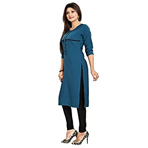 ALC Creation Women's Crepe Straight Kurta