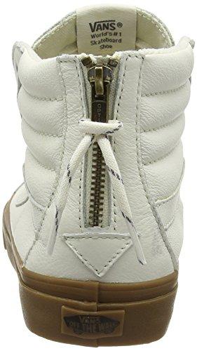 Vans White Hi Top White Hiking Sk8 Gum Sneakers Slim Zip rYtZxr7