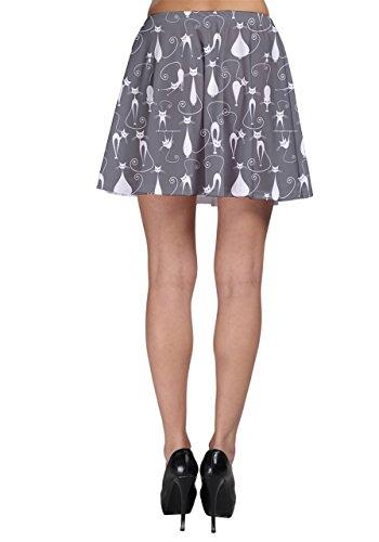 CowCow - Falda - para mujer gris claro