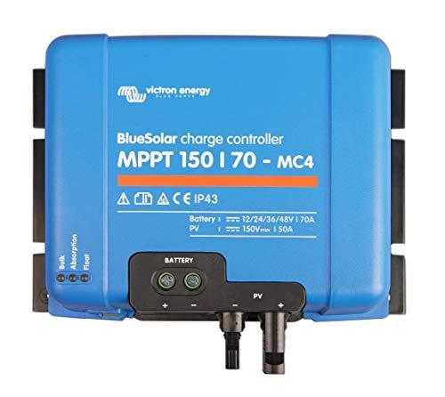 Victron Energy Bluesolar MPPT 150/70-MC4 12/24/48 V, 70 A Solar Laderegler, 1 Stück, SCC010070300